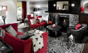black and white livingrooms bay window curtain unique stone tile