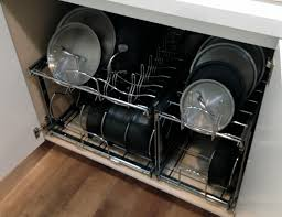 kitchen cabinet organizers for pots and pans 31 rev a shelf pots and pans organizer pin 5 pot pan organizer