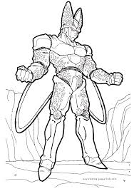 dragon ball z coloring pages boo coloring home