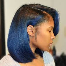 60 showiest bob haircuts for black women ombre bob blue ombre