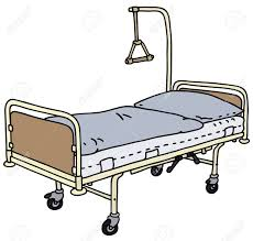 Drawing Of A Bed Hand Drawing Of A Hospital Bed Royalty Free Cliparts Vectors And