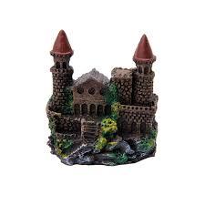 aquarium landscape simulation resin polyresin tower castle ornament