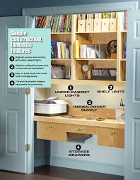 How To Build A Office Desk by Clever Idea Turn A Closet Into An Office Harry Stearns