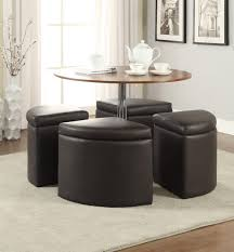 Round Dining Table With Hidden Chairs Round Coffee Table With Stools Home For You Chairs