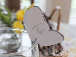 Table Setting Cards - diy butterfly place cards setting for four