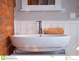white grey bathroom with sink stock photo image 44390063