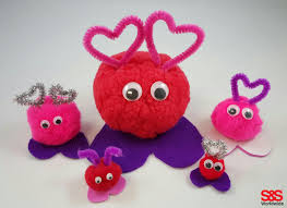 valentine craft with pom poms s u0026s blog