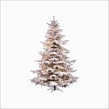 pre lit flocked tree new vickerman 7 5 ft