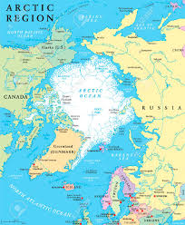 Arctic Map Arctic Region Political Map With Countries Capitals National