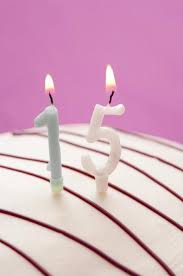 free image of burning candles for 15th birthday
