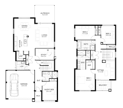 two home plans floor two floors house plans
