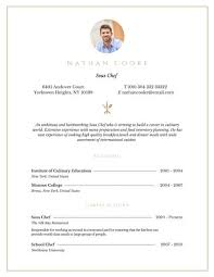 Chef Resume Template Professional Sous Chef Resume Templates By Canva