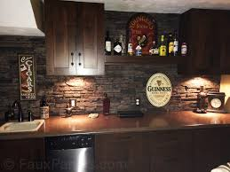 interior pressed metal backsplash contemporary kitchen