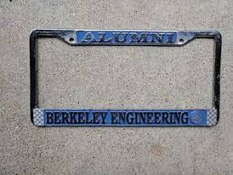 uc berkeley alumni license plate uc berkeley engineering alumni license plate frame used ebay