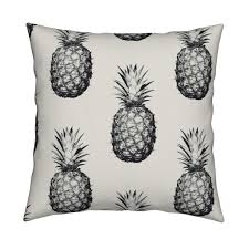 Pineapple Home Decor Pineapples Black And Cream Large Wallpaper By Thecumulusfactory