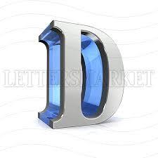 lettersmarket 3d chromed letter d isolated on a white background