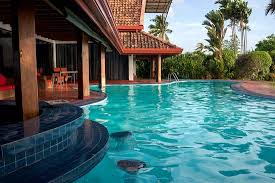 pool on the lakeside of the villa picture of blue water villa