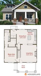small house floor plans small craftsman bungalow floor plan and elevation best house plans