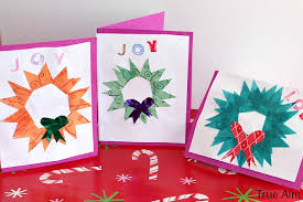 handmade christmas wreath cards for kids true aim