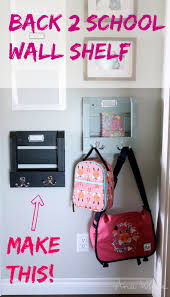 Backpack Hooks For Home by Ana White Wall Shelf Organizer With Hooks And Mail Slot