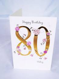 happy 80th birthday card for womens poem verse