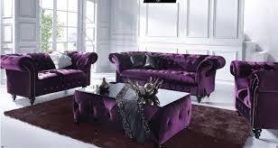 modern classical velvet tufted purple sofa for minimalist
