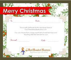 free christmas gift certificate templates lizardmedia co beauteous