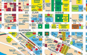 map of cleveland clinic the cleveland map company cleveland 5th edition