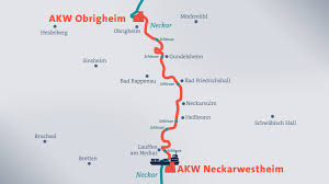 Bad Rappenau Wetter Atommüll Transport Streckenverlauf Auf Dem Neckar Baden