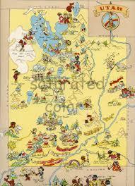 Park City Utah Map Utah Map Original 9 X 13 Vintage 1930s Antique Picture Map