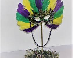 mardi gras feather mask wedding theme decoration centerpiece