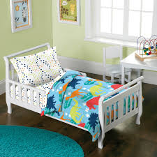 Target Toddler Bed Instructions Dream Factory Dinosaur 4 Piece Toddler Mini Bed In A Bag Bedding