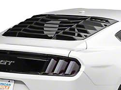 mustang window covers louvers rear window americanmuscle