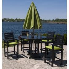 Patio High Table And Chairs Patio Patio High Top Table Black Round Modern Wooden Patio High