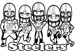 nfl team coloring pages pittsburgh steelers printable football steelers coloring for kids