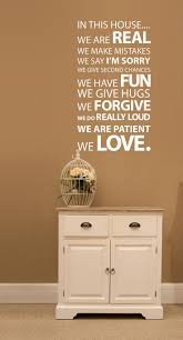 40 best wall stickers images on pinterest wall stickers home in this house wall sticker family quote by