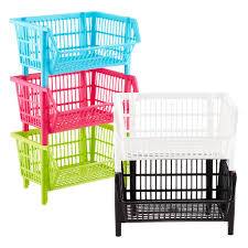 our basic stackable basket the container store