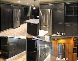painting kitchen cabinets espresso before and after espresso bean kitchen nov 2017 painting guys