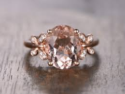 double gold rings images 4 5ct big morganite engagement ring wedding ring oval morganite jpg