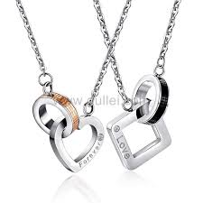 engraved pendants couples engraved pendants jewelry gift set for 2 personalized
