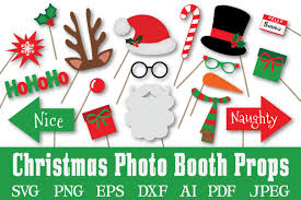 Christmas Photo Booth Props Christmas Photo Booth Props Svg Cut Design Bundles