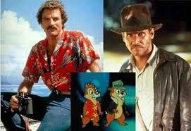 magnum pi year chip and dale were just versions of magnum p i and