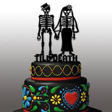 day of the dead wedding cake topper day of the dead dia de los muertos till