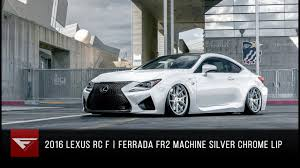 lexus rcf white 2016 lexus rc f ferrada fr2 in machine silver with chrome lip