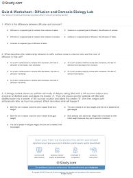 quiz u0026 worksheet diffusion and osmosis biology lab study com