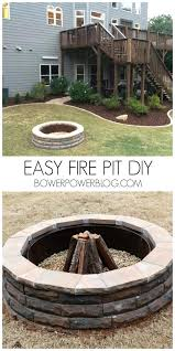 Firepit Bricks Outdoor Pit Bricks Fireplace Ideas Easy Do It Yourself