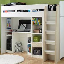 Bunk Beds With Wardrobe Henry Bunk Bed Frame With Desk Shelves And Wardrobe From 439
