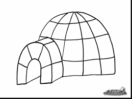 terrific siren coloring pages with igloo coloring page