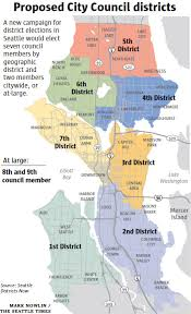 seattle map by district push is on for seattle city council election by district local