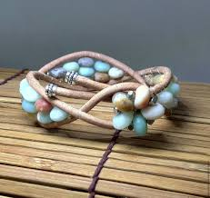 stone beaded bracelet images Matte amazonite bracelet stone beaded bracelet sea blue bracelet jpg